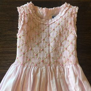 Luli & Me Pink Smocked Dress